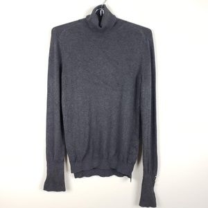 Zara Knit Grey Turtleneck Sweater Size Large